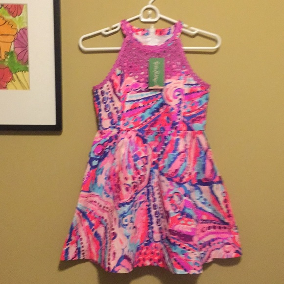 6c4643b5c91c Lilly Pulitzer Girls Kinley Dress SZ 12 NWT